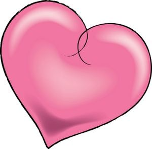300x295 Images Of Pretty Hearts Pink Heart Clip Art Love~
