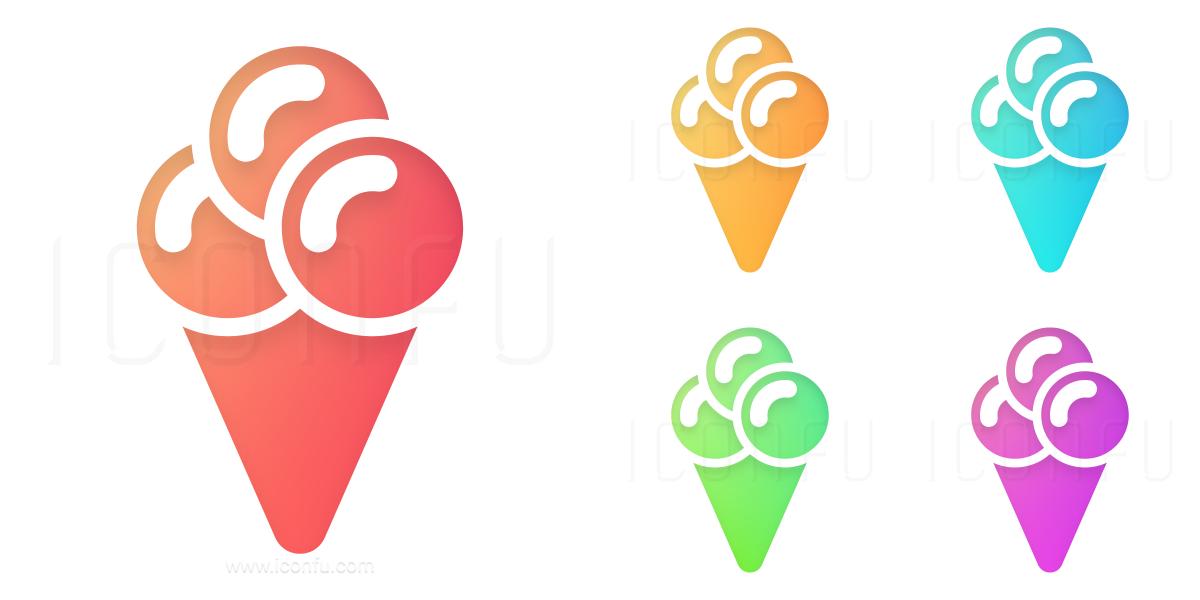 1200x600 Ice Cream Cone Icon