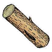 170x170 Clip Art Of Illustration Of Wood Log K16839416