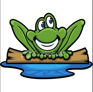 383x380 Frog On A Log Clipart