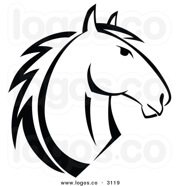 600x620 Horse Black And White Clipart