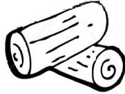 400x301 Log Black And White Clipart