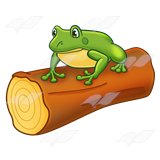 160x160 Abeka Clip Art Frog On A Log