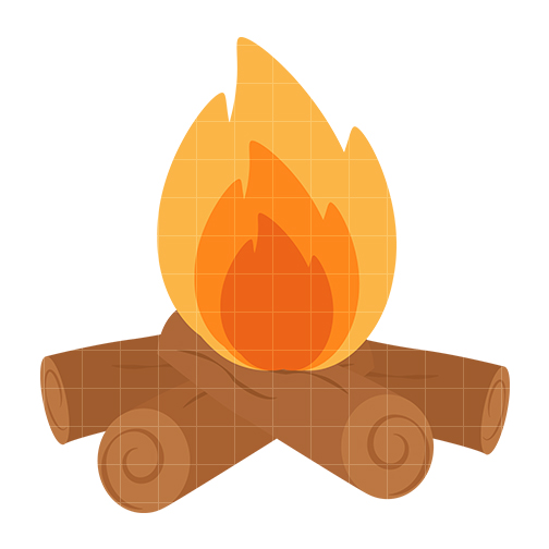 504x504 Log Fire Clipart