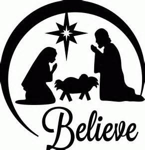 291x300 Nativity Scene Silohette