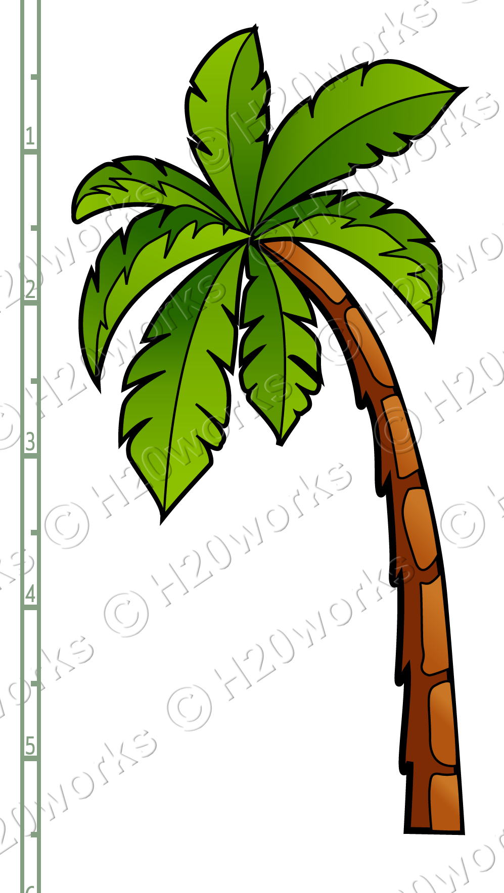 997x1768 Palm Tree Clipart Curved
