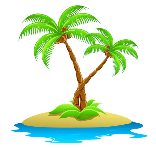 600x570 Palm Tree Clipart Deserted Island
