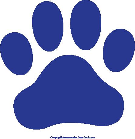 445x456 Cat Paw Free Paw Prints Clipart 3