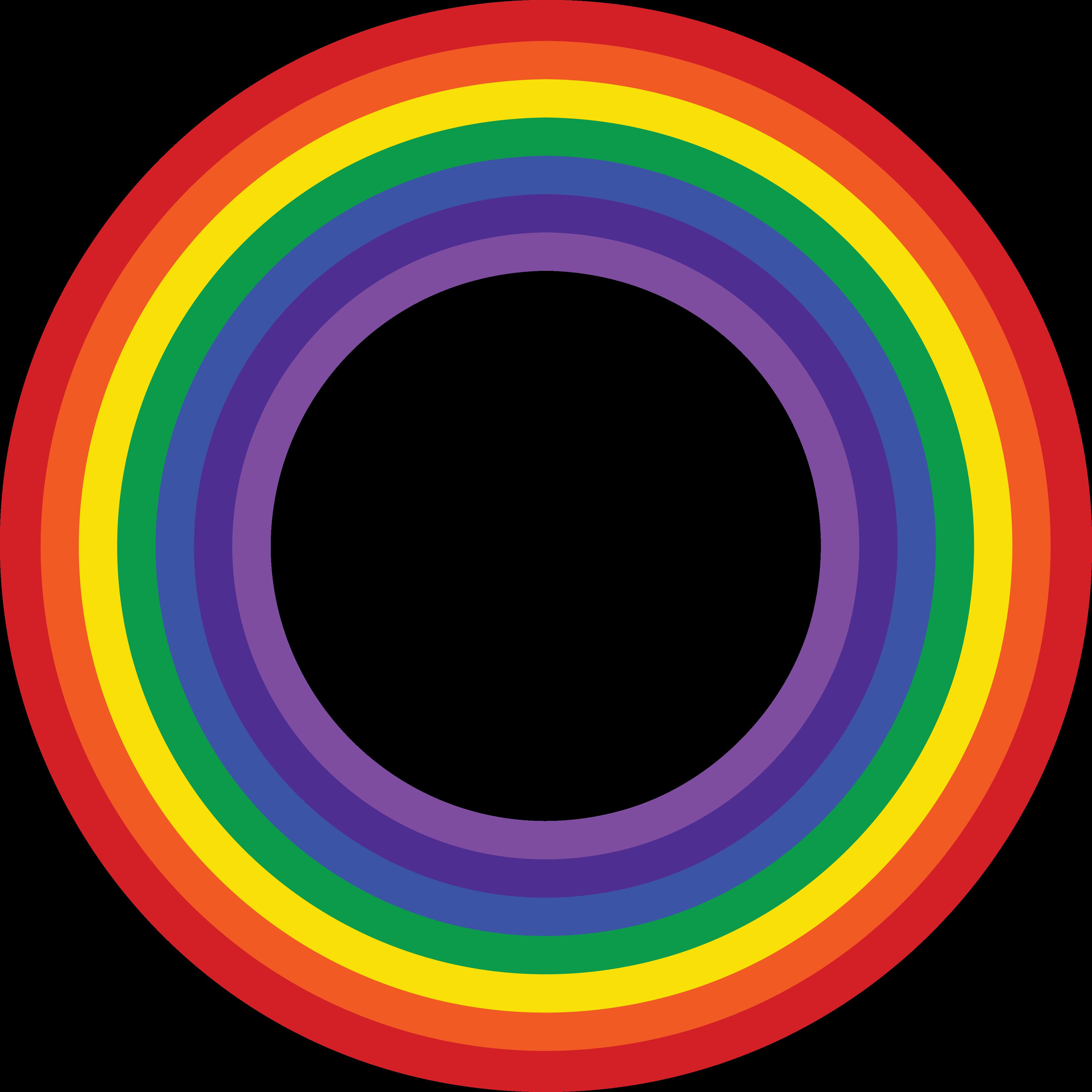 4000x3999 Free Clipart Of A Rainbow Border