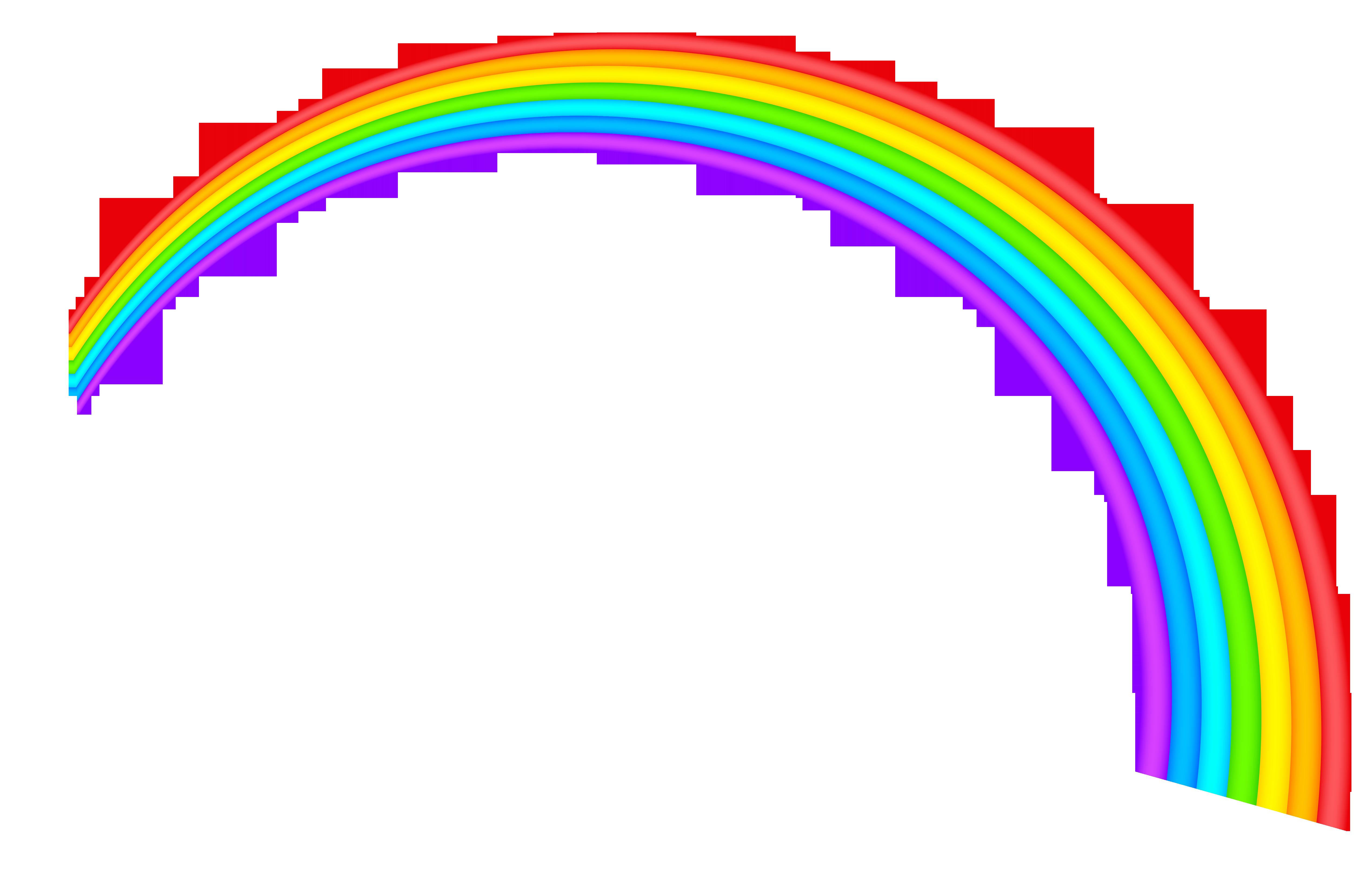 5076x3239 Half Rainbow Clipart