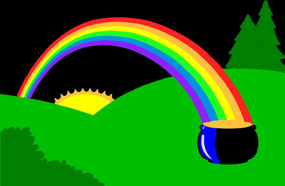 958x625 Rainbow Free Stock Photo Illustration Of A Pot Of Gold
