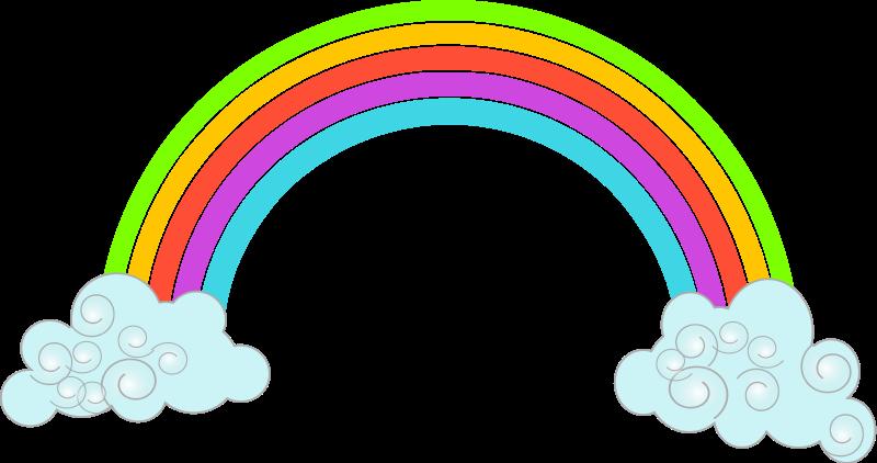 800x422 Rainbow Clipart Image Clip Art Of A Happy Sunshine