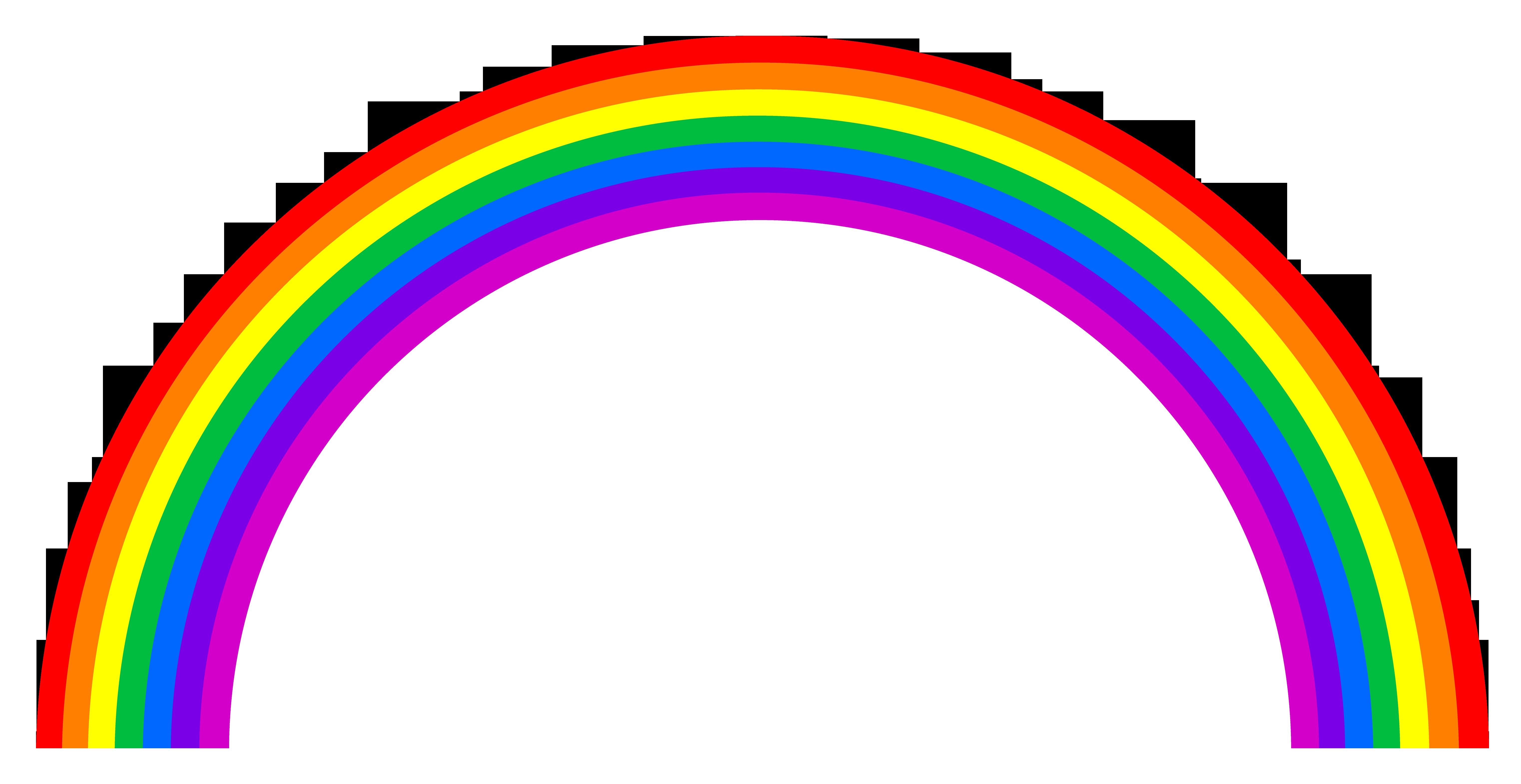 6088x3139 Cartoon Rainbow Clipart