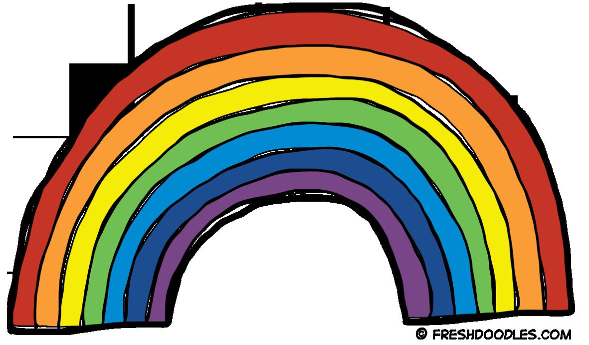 1181x691 Clipart Of A Rainbow