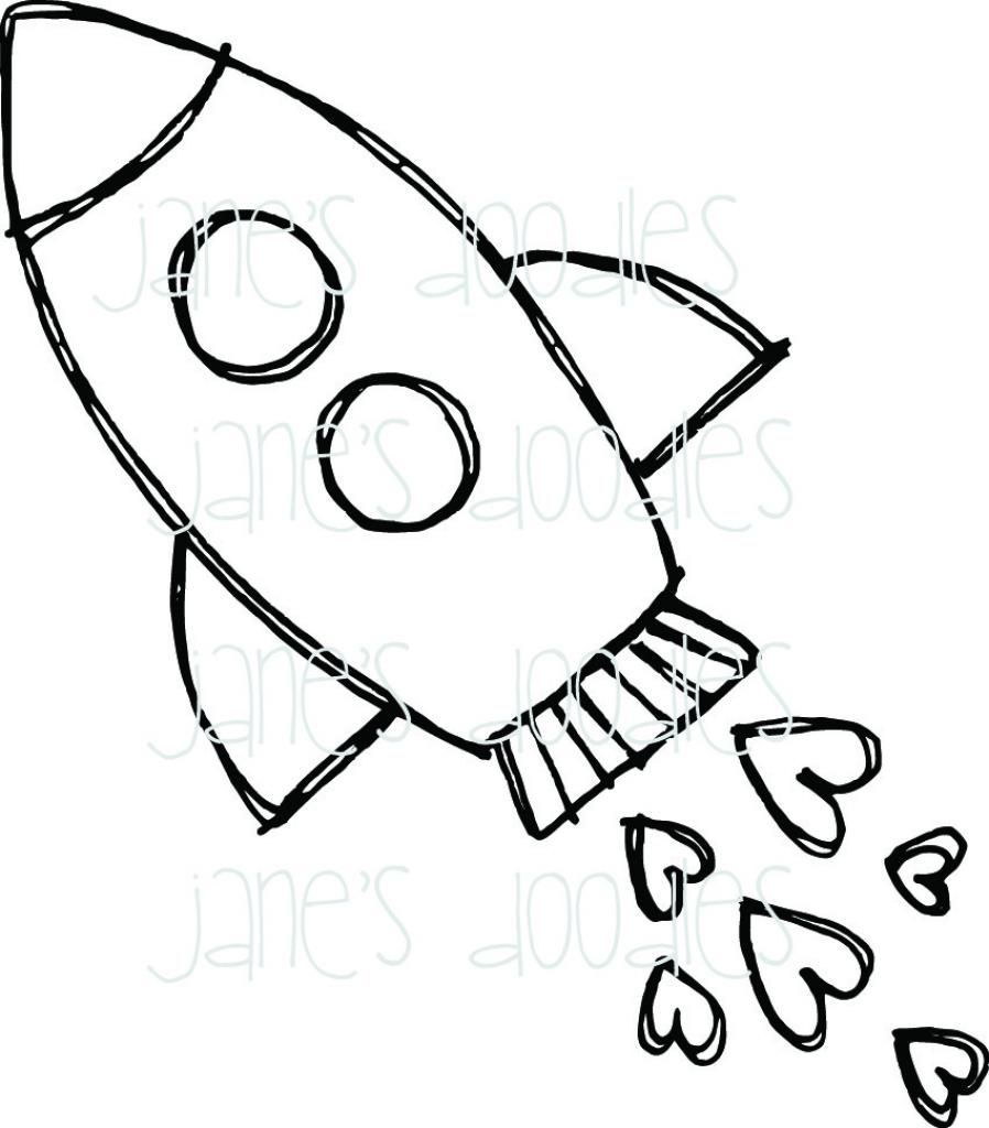 898x1024 Cartoon Rocket Drawing Drawing Of A Rocket Ship