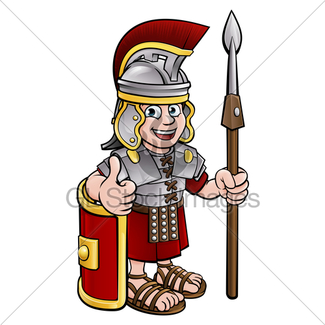 325x325 Cartoon Ancient Roman Soldier Pointing Gl Stock Images