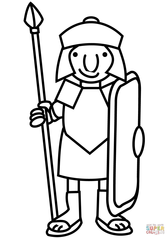 1061x1500 Cartoon Roman Soldier Coloring Page Free Printable Coloring