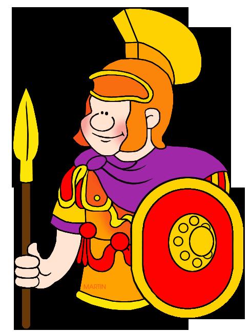 490x648 Military Clip Art By Phillip Martin, Roman Soldier
