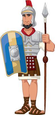 194x400 Roman Soldier Clipart
