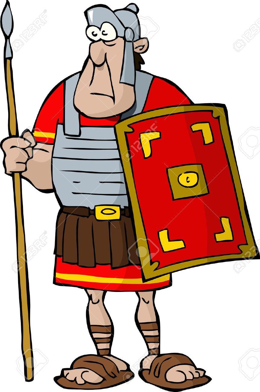 861x1300 Roman Soldier Clipart