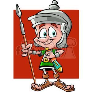 300x300 Royalty Free Roman Soldier Cartoon 391500 Vector Clip Art Image