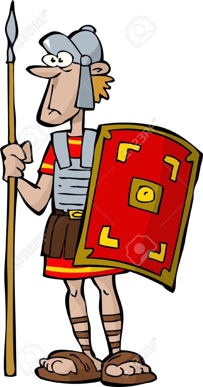 682x1300 Soldier Clipart Roman