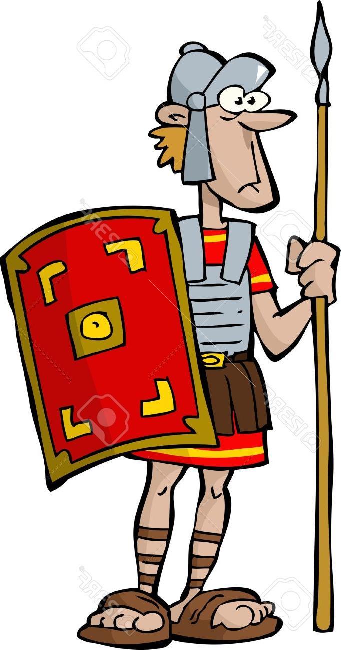 682x1300 Best Hd Legionnaire On White Background Stock Vector Roman Soldier