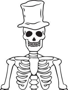 photo relating to Skeleton Costume Template Printable identified as Think about Of A Skeleton For Youngsters Totally free obtain ideal Consider