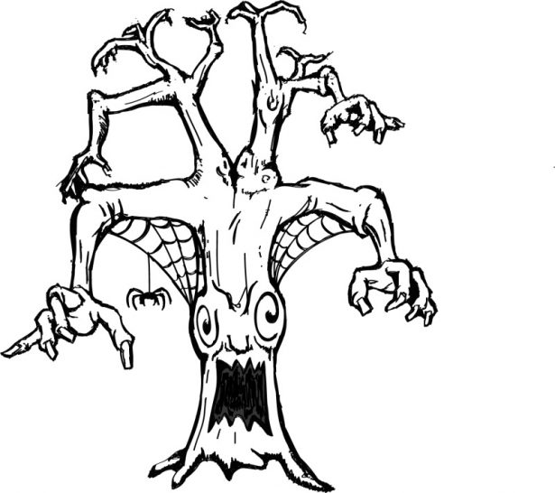 615x546 Adults Scary Coloring Pages Skeleton Scary Coloring Pages