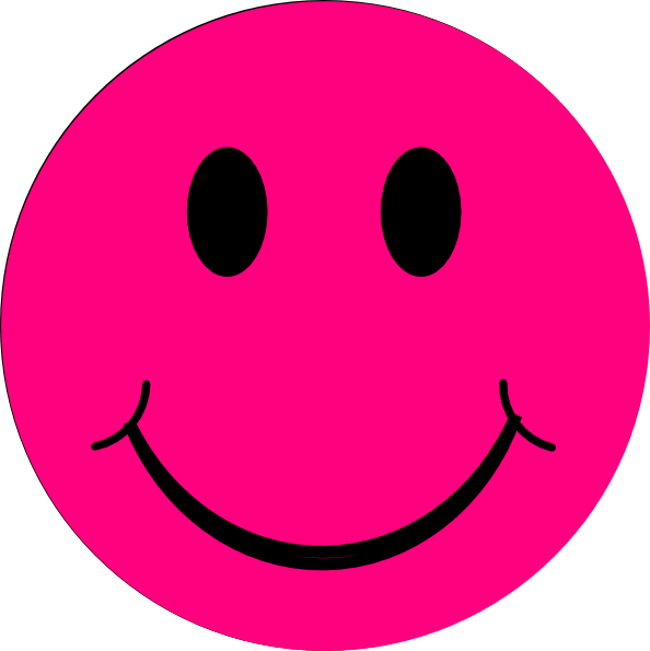 594x595 Pink Smiley Face Clipart Image