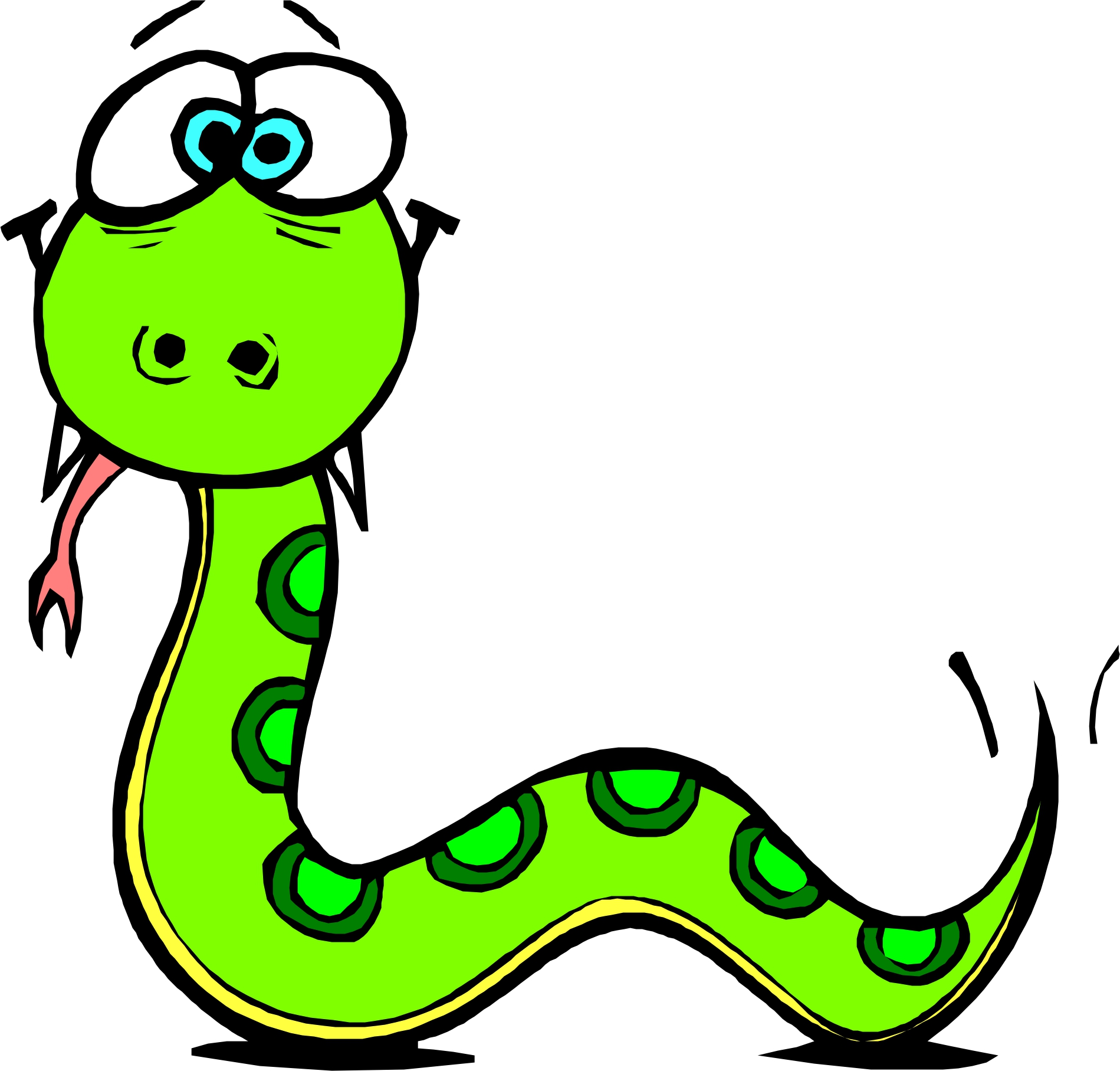 1899x1815 Picture Of A Cartoon Snake