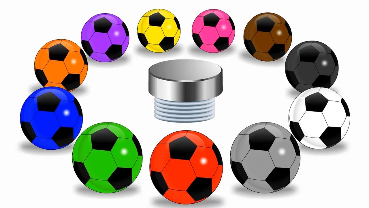 1280x720 Colors For Children To Learn With Soccer Balls Learn Basic Color