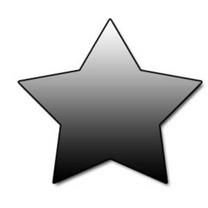 300x300 Web Graphic Clipart Picture Of A Gradient Gray Star