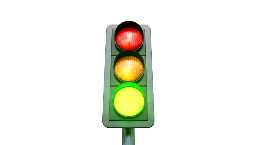 852x480 Stop Light Turns Green. Stock Footage Video 747037 Shutterstock
