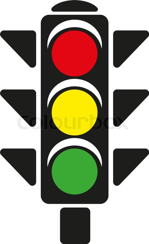 490x800 The Traffic Light Icon. Stoplight And Semaphore, Crossroads Symbol