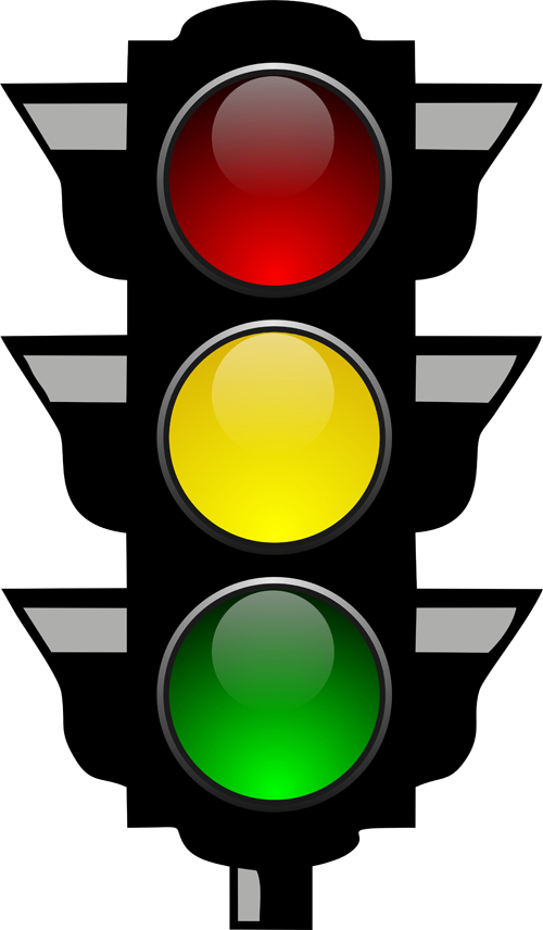 500x856 Cartoon Traffic Light Clipart