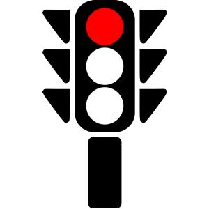 300x300 Traffic Light Clipart Red