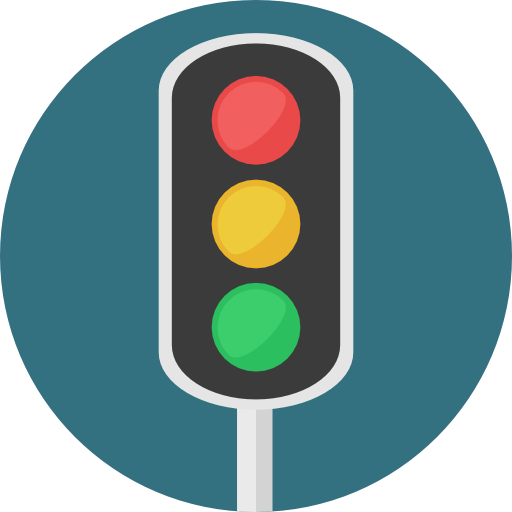 512x512 Stop, Light, Business, Traffic Light, Road Sign, Buildings