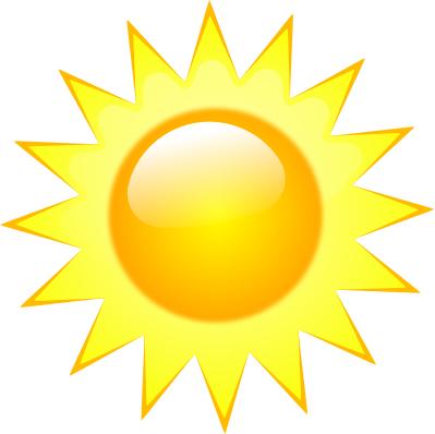 399x398 Bright Clipart Sun Weather