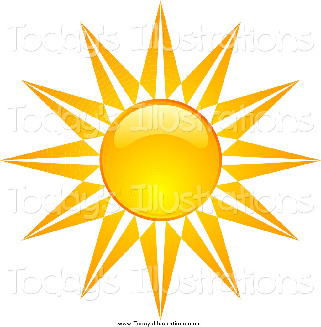 1024x1044 Clipart Of A Bursting Sun By Kj Pargeter