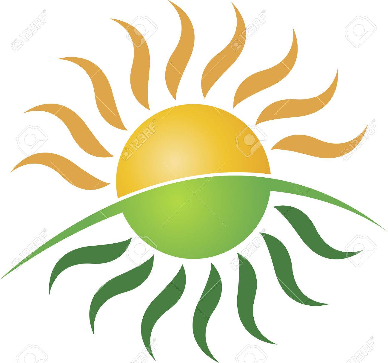 1300x1216 Illustration Art Of A Sun Logo With Isolated Background Royalty