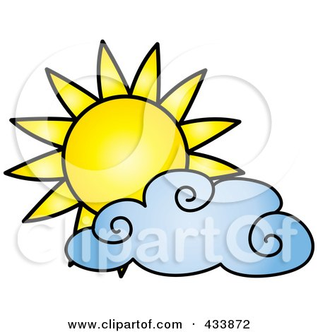 450x470 Royalty Free (Rf) Clipart Illustration Of A Happy Glossy Summer