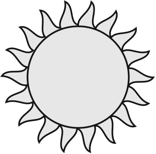 512x504 Sun Clipart Image Clip Art Illustration Of A Bright Yellow Sun