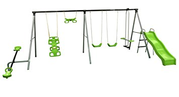 355x193 Flexible Flyer World Of Fun Swing Set Sports Amp Outdoors