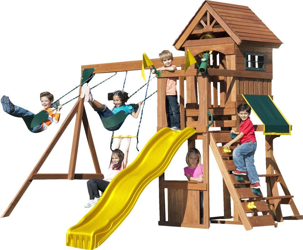970x800 Swing N Slide Jamboree Fort Play Swing Set Amp Reviews Wayfair