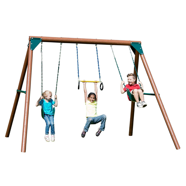 1500x1500 Swing N Slide Orbiter Complete Wooden Swing Set