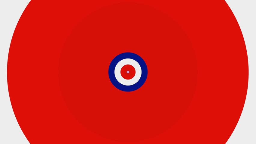 852x480 British Target Pattern 1 A Seamless Loop Of A Target Pattern