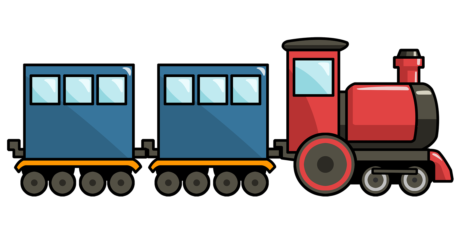 1600x783 Clipart Of Trains