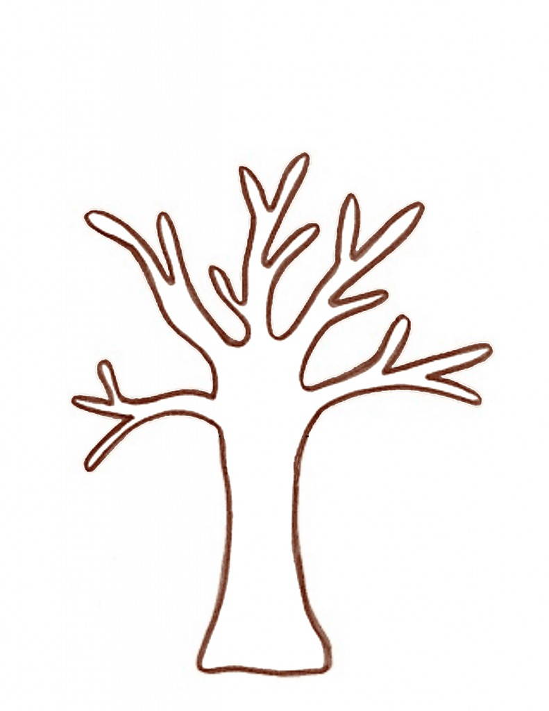 791x1024 Branch Clipart Tree Template