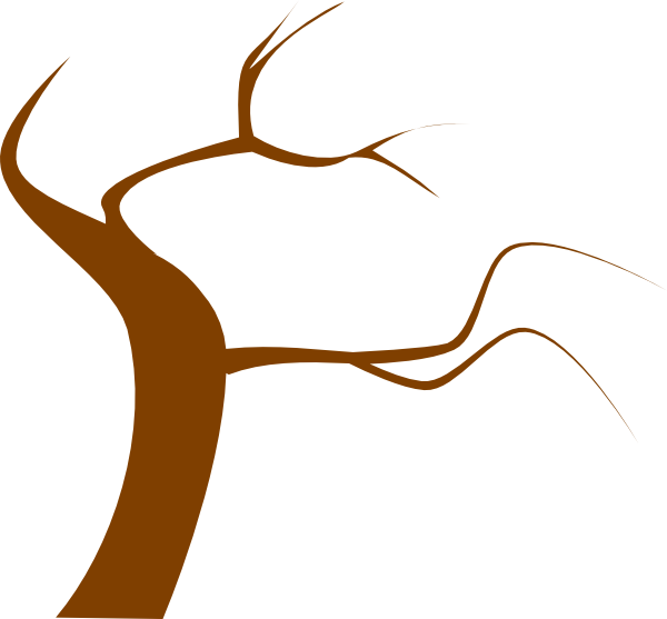 600x557 Brown Tree Clip Art